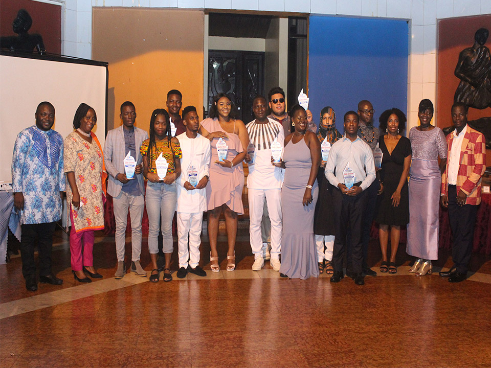 Award winners with the dignitaries