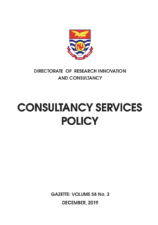 consultancy services policy 2019